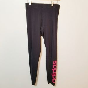 🎃 Adidas Printed Black Leggings Size M